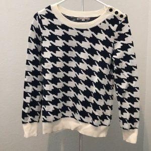 Gap dark navy blue houndstooth sweater